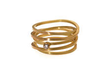 WICKELRING, 18 ct Gelbgold, Brillant